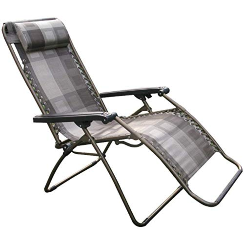 Chaise Pliante Simple, Chaise de Jardin inclinable lit Portable lit réglable lit Chaise Siesta Chaise de Bureau