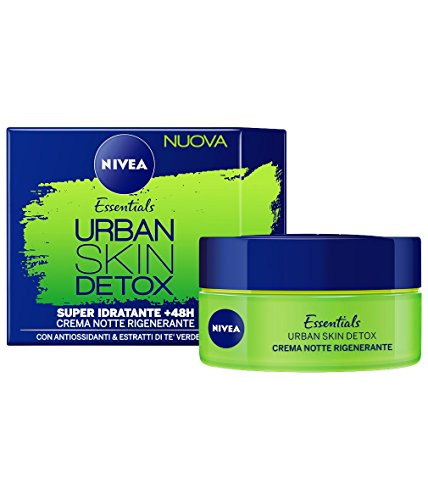 essentials urban skin detox crema notte rigenerante 50 ml