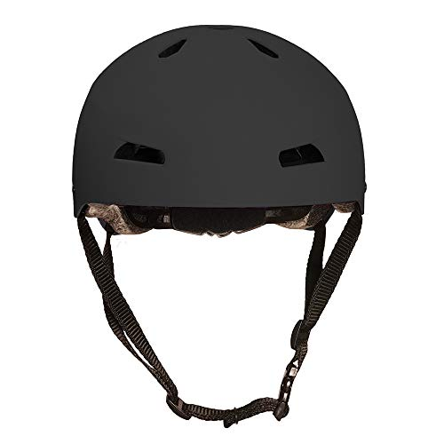 3StyleScooters® RollerMAX® Kids Multi-Sport Safety Helmet - For Stunt Scooting, Roller Skating, Skateboarding and BMX Riding - Suitable For Kids Aged 7+ (Carbon Black)