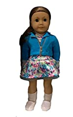 The 18-inch Truly Me doll has a huggable cloth body, eyes that open and close, hair that can be styled, and a movable head and limbs made of smooth vinyl. This one has light skin tone, caramel hair, and blue eyes. She arrives wearing a lilac dress wi...