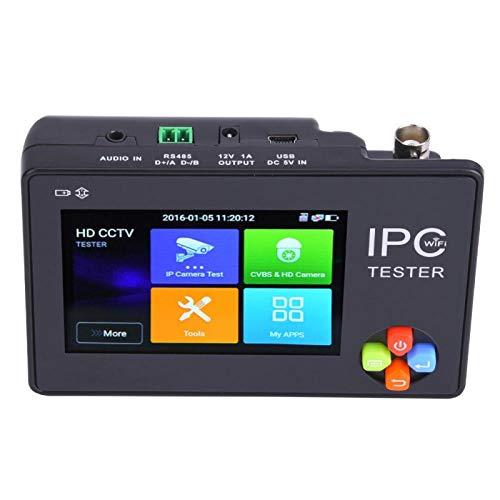 Shipenophy Probador inalámbrico WiFi CVI Probador IPC Pantalla táctil capacitiva HD Monitor de cámara IP Probador de cámara IP para la(100V-240V European Plug)