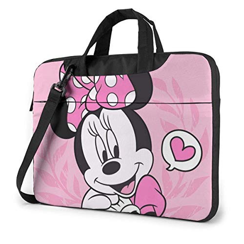 15.6″ Business Travel Minnie Mouse Laptop Notebook PC Briefcase Shoulder Messenger Bag Case Sleeve