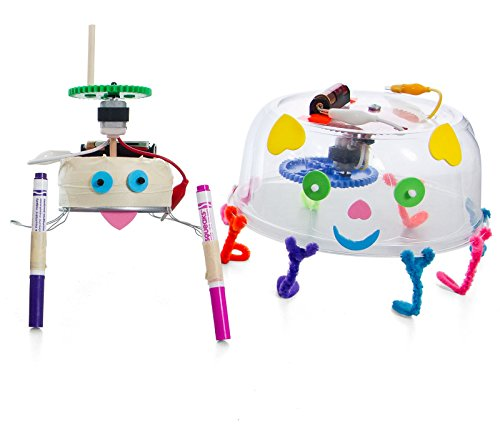 TeacherGeek Wiggle-Bots - Doodling, Scribbling, Drawing, Racing Bots STEM | STEAM Activity Kits - 10 Pack