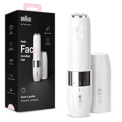 Braun Face Mini Hair Remover FS1000, Electric Facial Hair Removal for Women, White