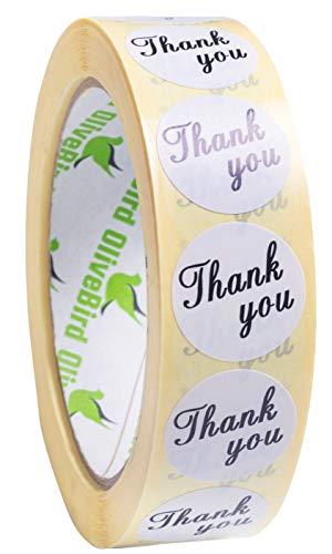 1000 Bianco Thank You Etichette Adesivi Matrimonio Etichetta Per Buste Dimensioni 25mm Tondo Adesivi Etichette Su Rotolo