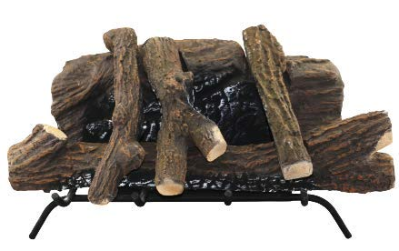 3G Plus Ceramic Wood Gas Fireplace Logs Sets for Gas Inserts, Ventless Propane, Gel, Ethanol, Electric or Outdoor Fireplaces and Fire Pits, Realistic Clean Burning Accessories,Log Set, 6 Pieces