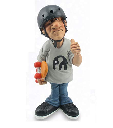Les Alpes Orig. Sammlerfigur Skater 16cm - liebevoll handbemalt auf Kunstharz, viele Details - Figur Statue Kollektion Funny World Berufe Freizeit