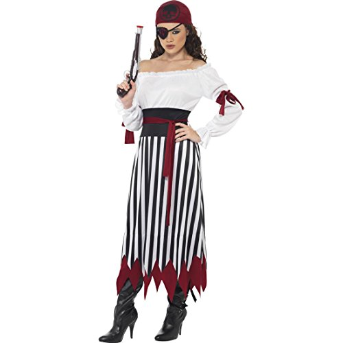 NET TOYS Piratin Kostüm Piratenbraut Kleid L 44/46 Piratenkostüm Damen Piraten Kleid Piratenkleid Piratin Kostümierung