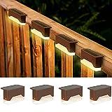 shumi Solar Deck Lights Outdoor, 4 Pack Solar Step Lights Outdoor...
