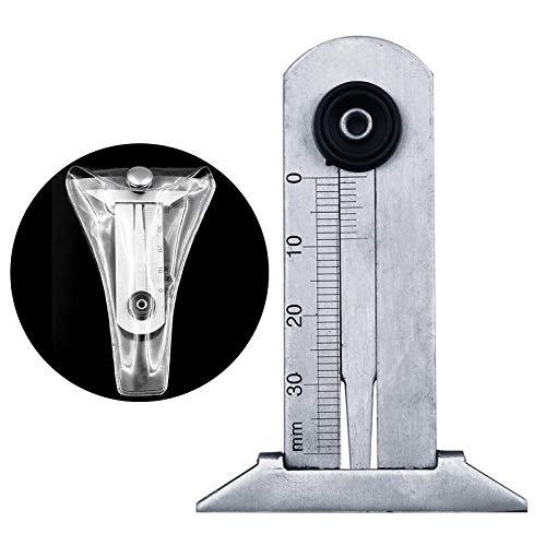 SHANG-JUN 0-30mm Edelstahl-Autoreifen-Reifen-Laufflächen-Tiefen-Gauger-Messgerät-Machthaber-Messwerkzeug Bild