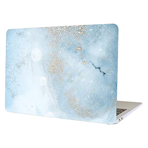 AUSMIX MacBook Pro Retina 13 inch Case (Model:A1502 A1425), Hard PC Shell Smooth Ultra Slim Folio Protective Case Colorful Print Cover for Macbook Pro 13 inch with Retina Display - Gold marble