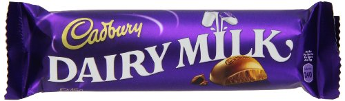 Cadbury Dairy Milk, 45g Bars, (Pack of 12)