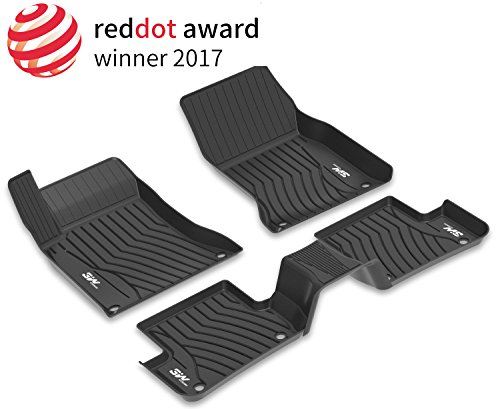 3W Floor Mats for Mercedes Benz C-Class (2016-2020) - Front and Rear Heavy Duty Custom Fit Floor Mats Liner All Weather with Odorless TPE (Sedan Only), Black