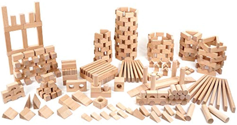 CreaBLOCKS Extra Groe Grundausstattung (380unbehandelte Baukltze) Made in Germany (ohne Aufbewahrung)