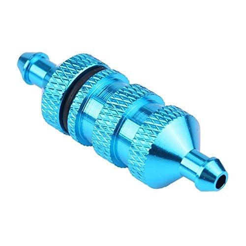GzxLaY Nuevo 1 Uds Filtro de Aceite Durable Aleación de Aluminio Aceite Nitro Filtro de Combustible Simulación de Metal Accesorios para 1/10 RC Coche Crawler D90 Traxxas TRX4 Repuestos Accesorios
