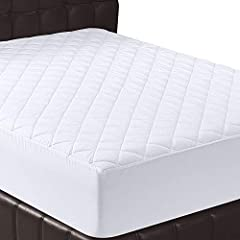 MATTRESS PAD - Queen size mattress pad measures 60 by 80 inches; knitted skirt stretches to fit up to 16-inch deep mattress; for best results, please protect the cover from spills as it is NOT WATERPROOF DURABLE - Quilted mattress pad cover is durabl...