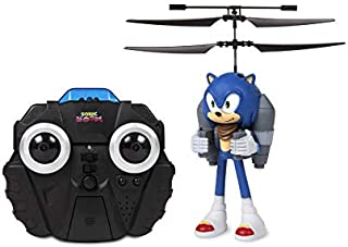 World Tech Toys Sonic Boom Sonic 2.5 Channel IR Jetpack Flying Figure Helicopter Vehicle, Blue, 9.5 x 5.25 x 12