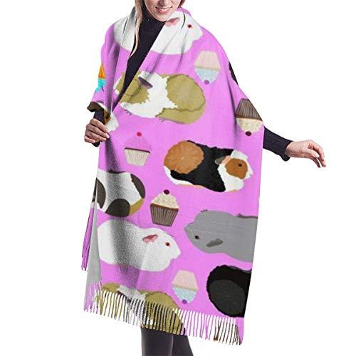 Manta de abrigo bufanda cobayas y magdalenas invierno bufanda chal abrigo para mujeres largas grandes bufandas calientes