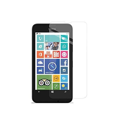 Simplecase Panzerglas passend zu Microsoft Lumia 630 , Premium Bildschirmschutz , Schutz durch Extra Festigkeitgrad 9H , Hülle Friendly , Echtglas / Verb&glas / Panzerglasfolie , Transparent - 1 Stück