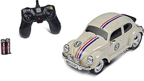 Carson 1:14 VW Käfer Rally 53 2.4GHz 100% RTR, Ferngesteuertes Auto, Licht und Sound, inkl. Batterien und Fernsteuerung, Fahrzeit ca. 45 min, 500907322