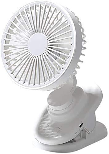 WNTHBJ - Ventilador de escritorio portátil para el hogar, oficina, recargable, 4000 mAh, ventilador de batería pequeña, aire acondicionado portátil