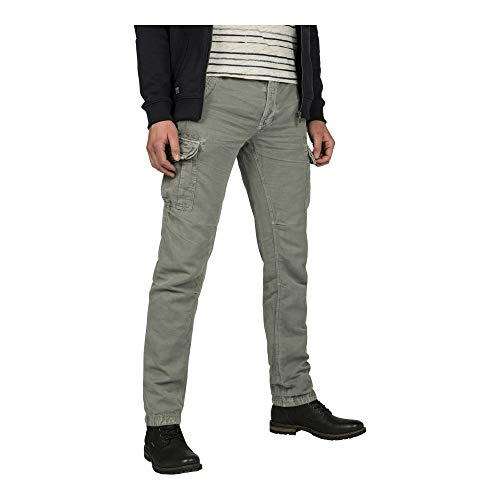 PME Legend Cotton Linen Engine Cargo Pant Grey - Cargohose, Hosengröße:W36/L34, Farbe:Grey