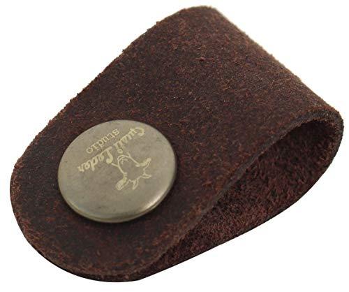 Gusti Leder studio porta auricolari cuffie set da 7 in vera pelle di bufalo per fili marrone 2A27-26-23