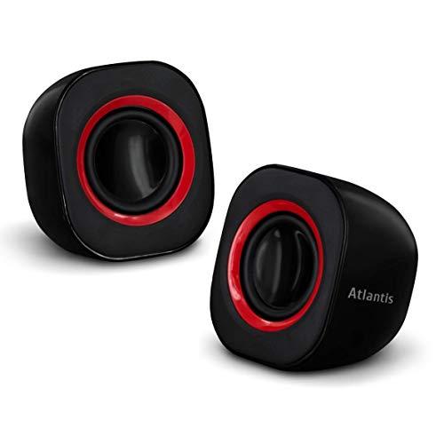 ATLANTIS Sound Power 440 Mini-Casse Stereo Amplificate, Nero Lucido