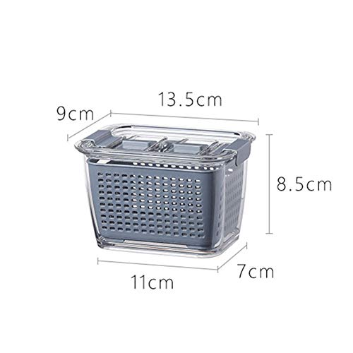 Ammily Kitchen Plastic Storage Box Fresh-Keeping Box Refrigerator Fruit Vegetable Drain Crisper Kitchen Storage Containers