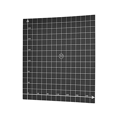 IKAYAAA 300 * 300mm Caldaia per Letto riscaldante Foglio Caldo Piattaforma per Montaggio Superficie Nastro con coordinatore 1: 1 per Stampante 3D Creality CR-10 / CR-10S