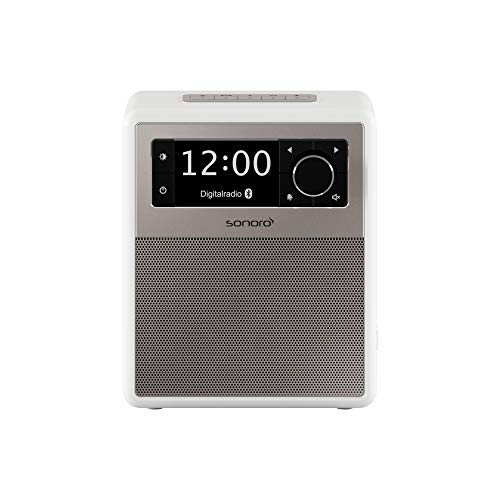 sonoro Easy Digitalradio 2018 (UKW/FM/DAB+, AUX-in, USB, Bluetooth, Wecker) Weiß