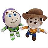 2 Piezas 20 Cm Toy Story 4 Woody & Buzz Lightyear Y Jessie Plush Toy Doll Forky Soft Stuffed Toys pa...