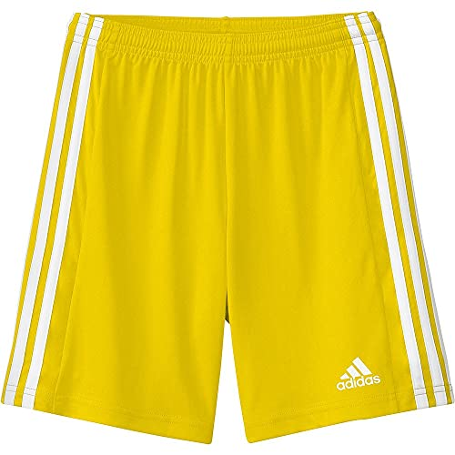 adidas Squad 21 SHO Y – Pantaloni Corti per Bambini, Bambino, Pantalone Corto, GN5760, tmyell/Bianco, 14 Anni