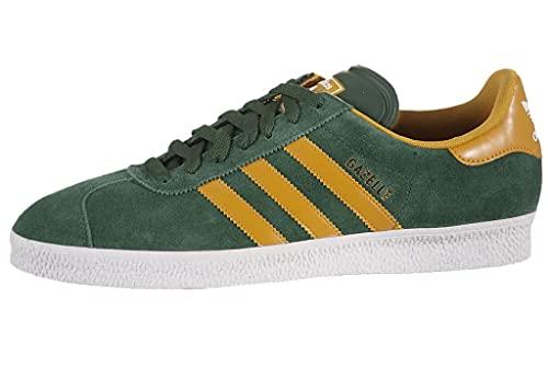 adidas Gazelle - Zapatillas de cuero y tela para hombre, color verde, talla 44 EU