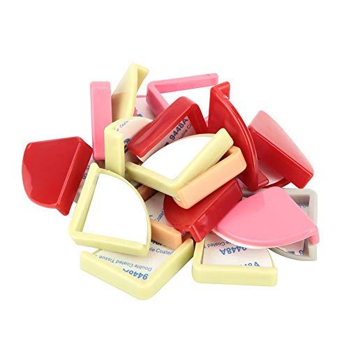 20 Piezas en Forma de Abanico Color Seguridad para niños Almohadilla de protección de Bordes de Muebles de Silicona Protector de Esquina de Mesa anticolisión para Uso doméstico