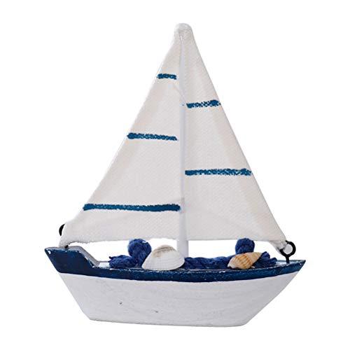 VOSAREA - Adorno para velero de madera con ancla concha, modelo de velero, decoración náutica