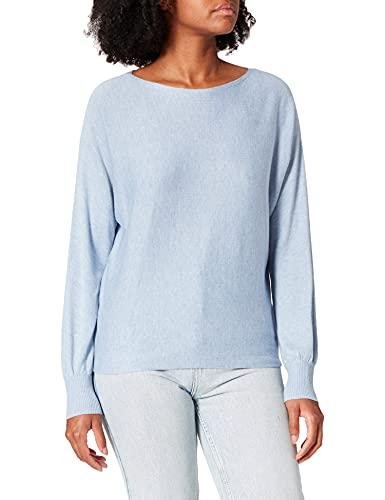Street One Damen Noreen Pullover, Seaside Blue Melange, 40