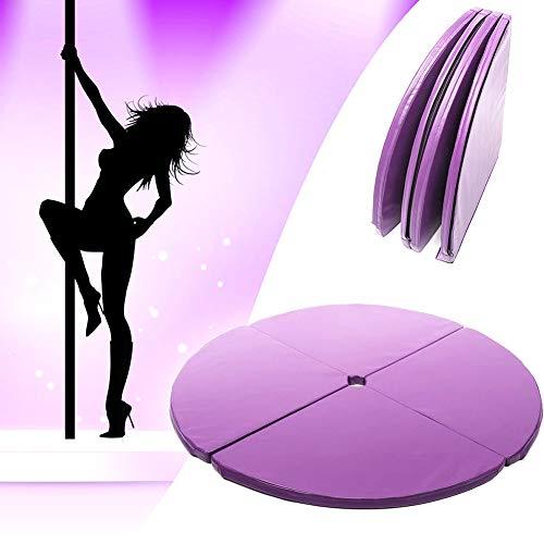 ZQNHXY Pole Dance Mat Plegable Yoga Seguridad En El Ejercicio De Baile del Amortiguador De Tubos De Acero Crash Mat, Dia 120Cm,120 * 3