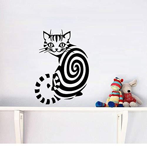 Hetingyue moderne stijl kat in spiraal decoratie van het huis, moderne slaapkamer, woonkamer, decoratie van het huis, wanddecoratie