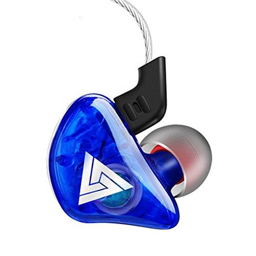 Marxways 2020 Kopfhörer QKZ CK5 In Ear Monitor Hybrid-Kopfhörer Kopfhörer Stereo Race Sport Headset (Blau)