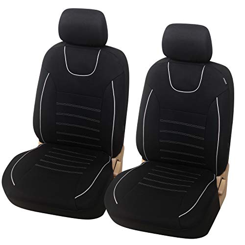 eSituro SCSC017239 Autositzbezüge Einzelsitzbezug universal Sitzbezüge für Auto Schonbezug Schoner Dicke gepolstert schwarz