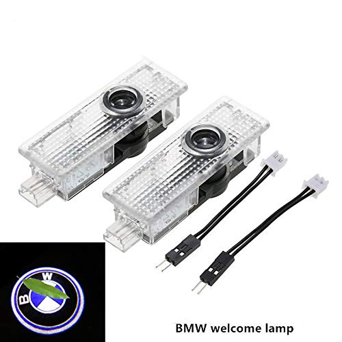 XUJINQI LED Car Door Welcome Light 1 Pair Welcome Logo Lamp Shadow Projector HD Logo Symbol Laser Projector Lights for BMW Series 3 5