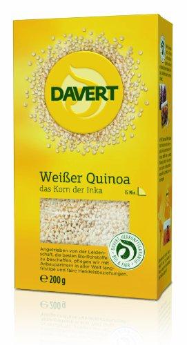 Davert Weißer Quinoa, 4er Pack (4 x 200 g) - Bio