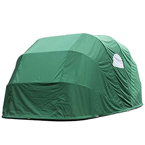 LiChenY Garage Carport Shelter, Außenraums Stahl Rahmen Schutzhütte Baldachin Stahl Auto Garage - 6000x2500x2300mm - Anti-UV, Wasserdicht, Beweiswind, Schnee, Sturm (Color : Green)