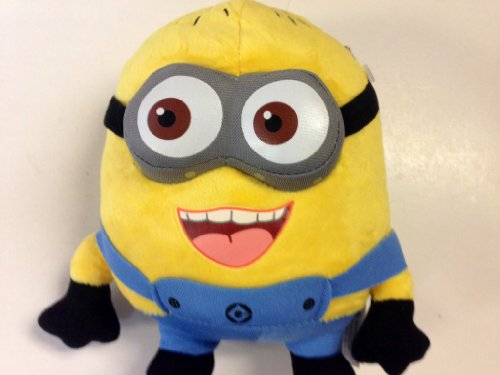 TBC TOYS Despicable ME Happy Face 3-D Eyes Despicable Me Plush Minion 7.5' Tall. Soft, Cuddly and So Much Fun!