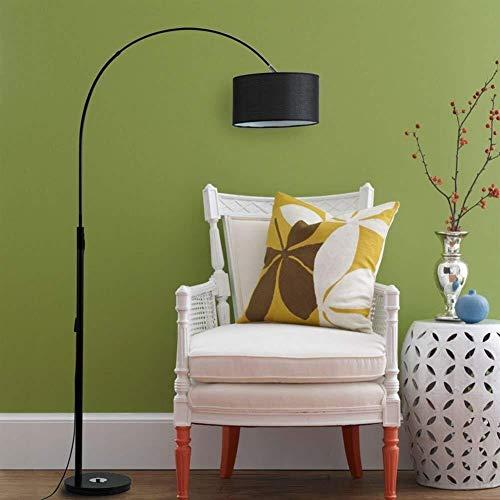 YHtech Luces de piso Pesca y sencilla tela de Pantalla circular de hierro creativo moderno de la lectura de la cabecera de moda de pie luminarias for sala de estar dormitorio Incluye bombilla
