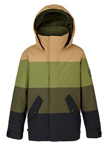 Burton Jungen Symbol Jacket Snowboardjacke, True Black/Forest Night/Olive Branch, S
