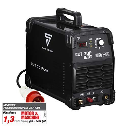 STAHLWERK CUT 70 P IGBT Plasmaschneider mit 70 Ampere Pilot-Zündung bis 25 mm Schneidleistung für Flugrost geeignet 7 Jahre Garantie