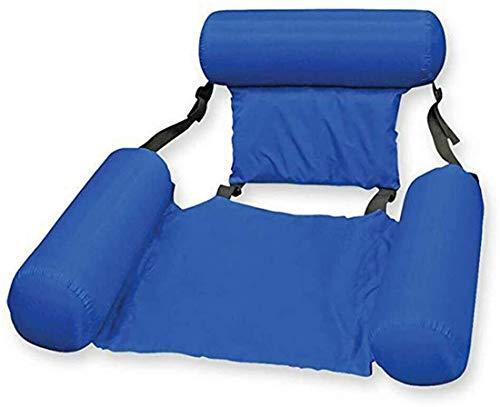 CDBXA Schwimmbad Strand Schwimmstuhl aufblasbares Sofa schwimmender Liegestuhl aufblasbares Wasserbett Hängematte Schwimmbett Treibbett tragbarer schwimmender Liegestuhl (blau)