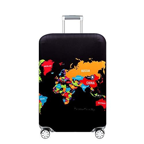 MOLUO Cubierta Protectora for el Equipaje 18-32 Pulgadas Maleta Cubiertas Protectoras del Tronco Caja de Accesorios de Viaje Cubierta para Equipaje (Color : Footprint Map, Size : XL)